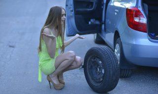 ダンプのフロントタイヤが走行中にパンク 重要な事は?